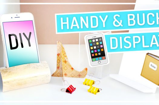 Smartphone, Tablet & Buch DIY Displays