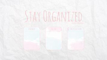 Desktop Organizer Hintergrund